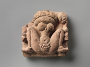 Lótusfejű termékenységistennő (Laddzsá Gaurí). Madhya Prades, 6. század. Metropolitan Museum of Art, New York, Samuel Eilenberg Collection
