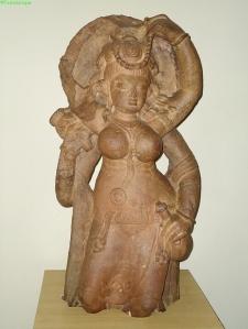 Laksmí. Közép-India, Morena, kb. 5. század. Bhopal Archaeological Museum