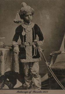 Baroda ifjú mahárádzsája, 1877 (forrás: Tasveerjournal)