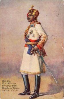 Sir Ganga Singh, Bikaner mahárdzsája ((forrás: Tasveerjournal)