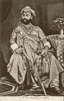 Indor mahárádzsája, 1877 (forrás: Tasveerjournal)